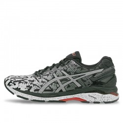 Unisex Asics Gel Kayano 23 Lite Show Carbon Silver-Reflective Running Shoes