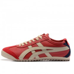 Unisex Asics Onitsuka Tiger Mexico 66 Lauta Leather Red Beige